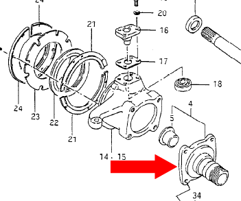 Picture of Hub Spindle for Suzuki Samurai