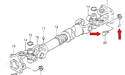 Picture of Samurai Driveshaft Bolt (with Nut)